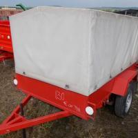 Remorca mica cu prelata monoax cu instalatie electrica. oferta Utilaje agricole
