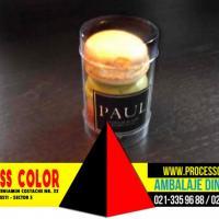 Ambalaje plastic 3 Macarons, Minimacarons Process Color oferta Ambalaje