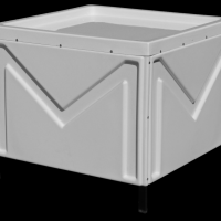 Taraba pentru piata pe structura metalica Poza